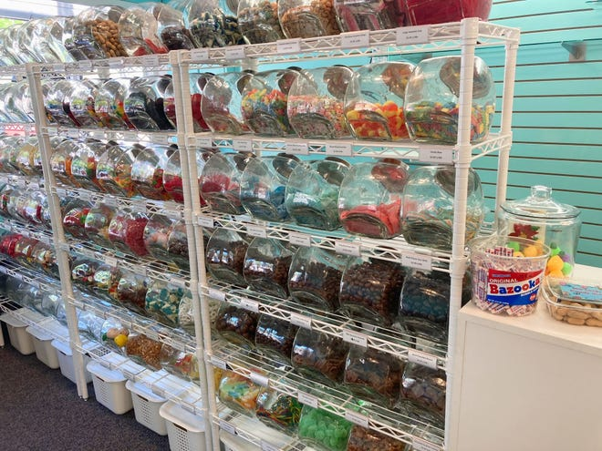 The Soo Locks Candy Shop has over 90 different bulk candies, imported candies, salt water taffy, cotton candy and a variety of gummies.