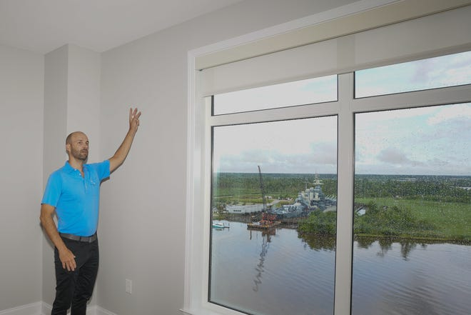 Lucien Ellison, Senior Managing Partner with East West Partners gave a tour of an apartment that has been repaired at Riverplace  in downtown Wilmington on Friday.  June 4, 2021.  [KEN OOTS/FOR THE STARNEWS]