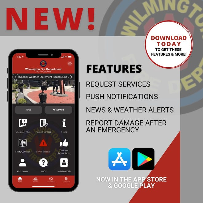 The Wilmington Fire Department is excited to announce the release of the organization's new smartphone application.