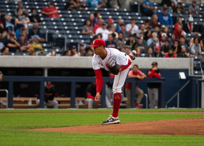 WooSox starter Raynel Espinal didn't make it out of the third inning Saturday night at Lehigh Valley.