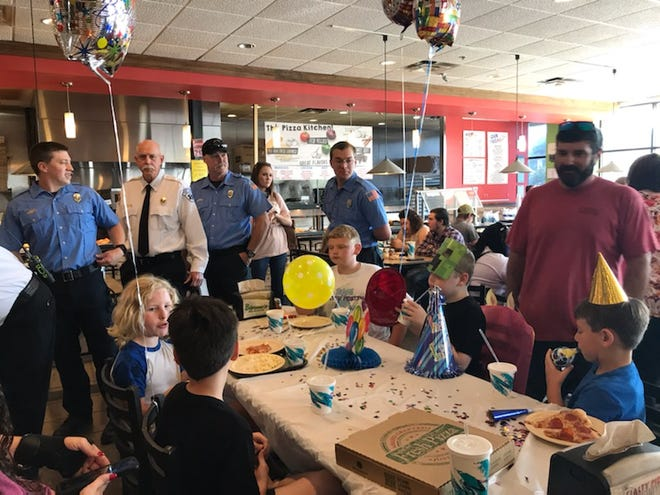 Members of the Gadsden Fire Department turned out to help celebrate a 10-year-old's birthday after learning through social media that it appeared no one would make it to the party.