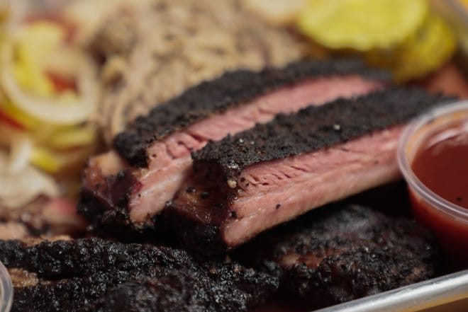 This is the brisket at Hank's Texas BBQ, 2941 N. High St. in Clintonville.