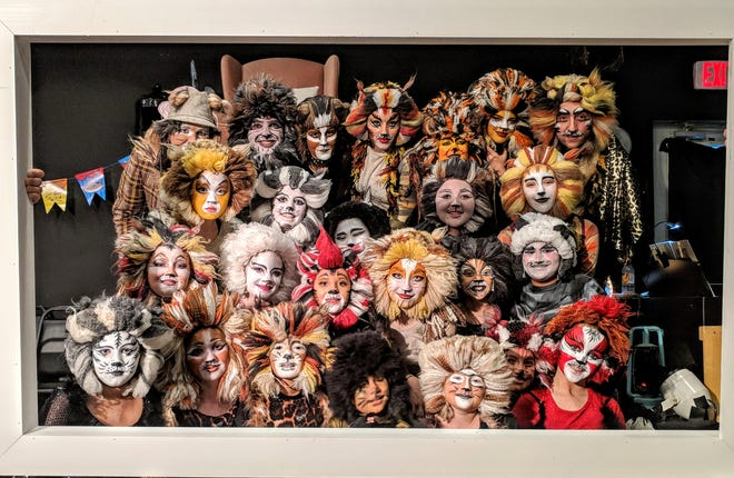 """The casts of """"Cats,"""" opening June 18 at the Blackbox Theatre in Acton."""