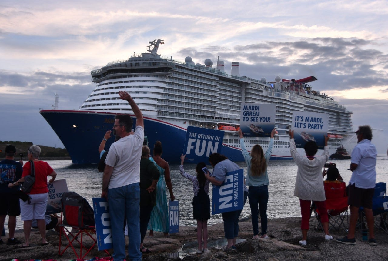 Carnival's newest ship, Mardi Gras, arrives at Port Canaveral. But when can it sail?