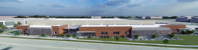Eldon James Corp. is building a new 106,000-square-foot facility next to its sister company, WilMarc, in the Harmony Technology Park.