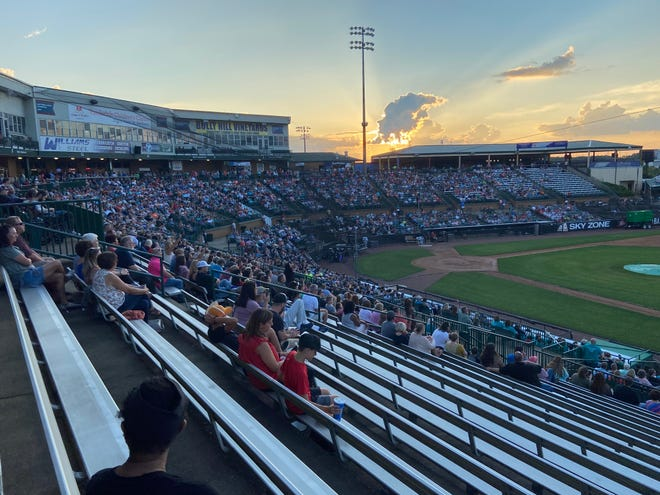 Nearly every section of The Ballpark at Jackson was close to full as Mercy Me sold 3,600 tickets for their concert on Thursday, June 3, 2021.
