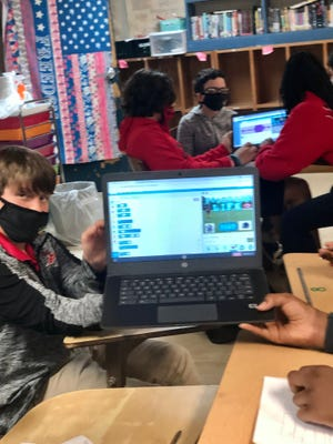 Port Barre Middle School teacher Sandra Castille uses game-based content in her class through the Legends of Learning platform.