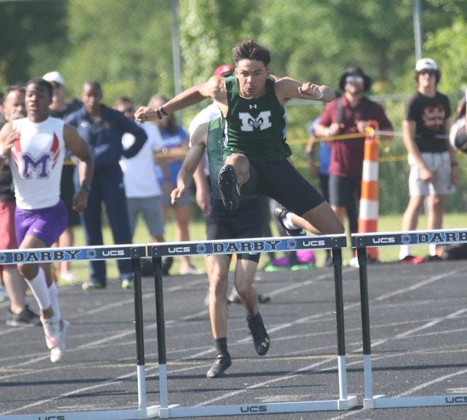 Madison's Isaac Brooks secured an All-Ohio finish in the 300-meter hurdles with the second-best qualifying time in the preliminary races on Friday during the Division I state track meet.