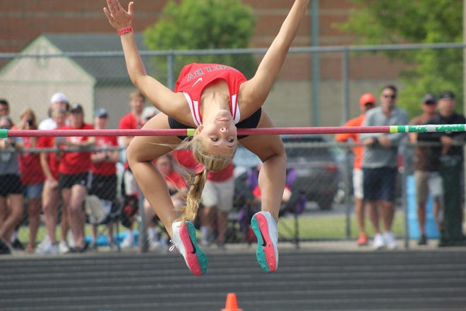 Shelby's Kassie Stine was named to the All-Mansfield News Journal Girls Track and Field first team.