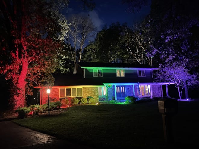 A home in Racine became a viral sensation when the homeowner was told to take down a Pride flag, so he washed it in rainbow flood lights.