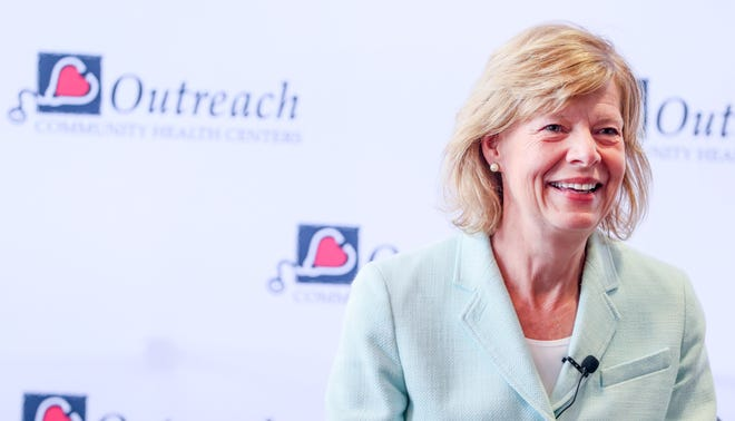 U.S. Sen. Tammy Baldwin before the roundtable discussion Friday, June 4, 2021, at Outreach Community Health Center located at 201 W. Capitol Dr., Milwaukee.