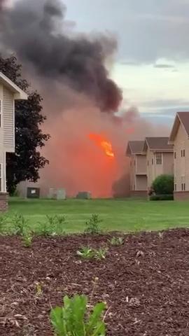 Fire tears through Hales Corners apartment building