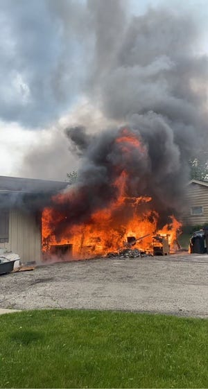 A village of Pewaukee home was heavily damaged by a fire on May 27.