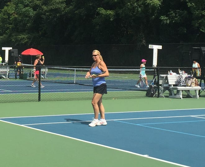 Rose Pendleton, foreground, and other players enjoy hitting the courts to help Reality & Truth Ministries. The 12th annual tennis tournament to benefit Reality & Truth Ministries will be held July 2 at Wynlakes Country Club.