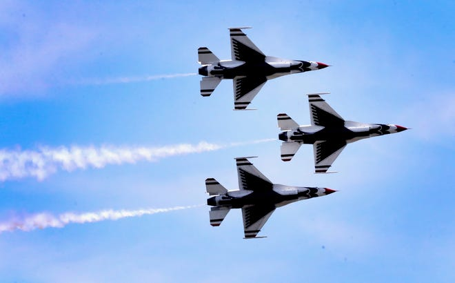 The U.S. Air Force Thunderbirds fly into Smyrna Friday for the Great Tennessee Air Show, set for June 5-6.