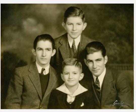 The Cornell brothers, whom Peter Cornell named his Nolensville coffee shop after, are pictured here. His grandfather Ralph T. Cornell, on the right, was a father figure to him. The other brothers pictured are Emmersen, top, J. Harvey, left, and Peter, center, whom Peter Cornell is named after.