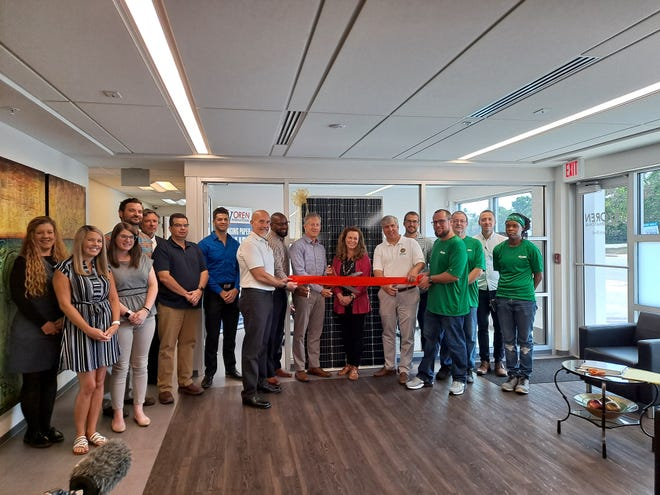 Oren International unveiled the company's 524-kilowatt rooftop solar system at a ribbon-cutting ceremony Wednesday, June 2, 2021, at its Pensacola location.