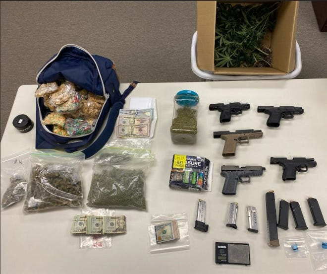 The York County Drug Task Force seized fentanyl, marijuana, illegal handguns and other items in a Tuesday, June 1, 2021, raid of a home in the 900 block of Redbud Court in Manchester Twp., according to the county DA's office.