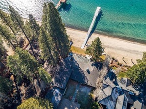 A luxury home on 949 Lakeshore Boulevard in Incline Village. The lakefront property, which measures 5,163-square-feet and has four bedrooms and seven bathrooms, sold for $22 million in early 2021.