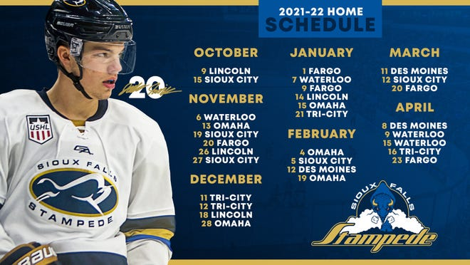 The Stampede's 2021-22 home schedule