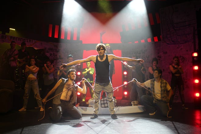 """Patrick Campbell designed the lighting for New Stage Theatreworks production of """"American Idiot,"""" his favorite show to light in the past 5 years. The rock opera has big, flashy musical numbers."""