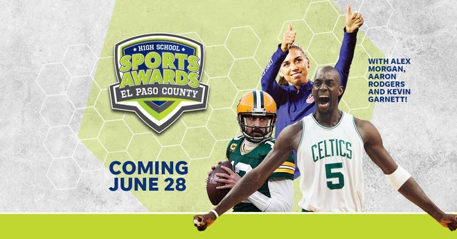 NBA Champion and MVP Kevin Garnett joins celebrity athletes, including Alex Morgan and Aaron Rodgers, announcing the winners of the El Paso County High School Sports Awards.