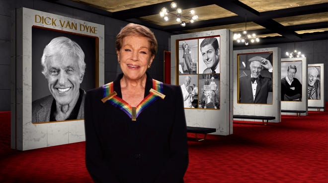 """Julie Andrews pays tribute to her """"Mary Poppins"""" co-star, Kennedy Center Honoree Dick Van Dyke."""