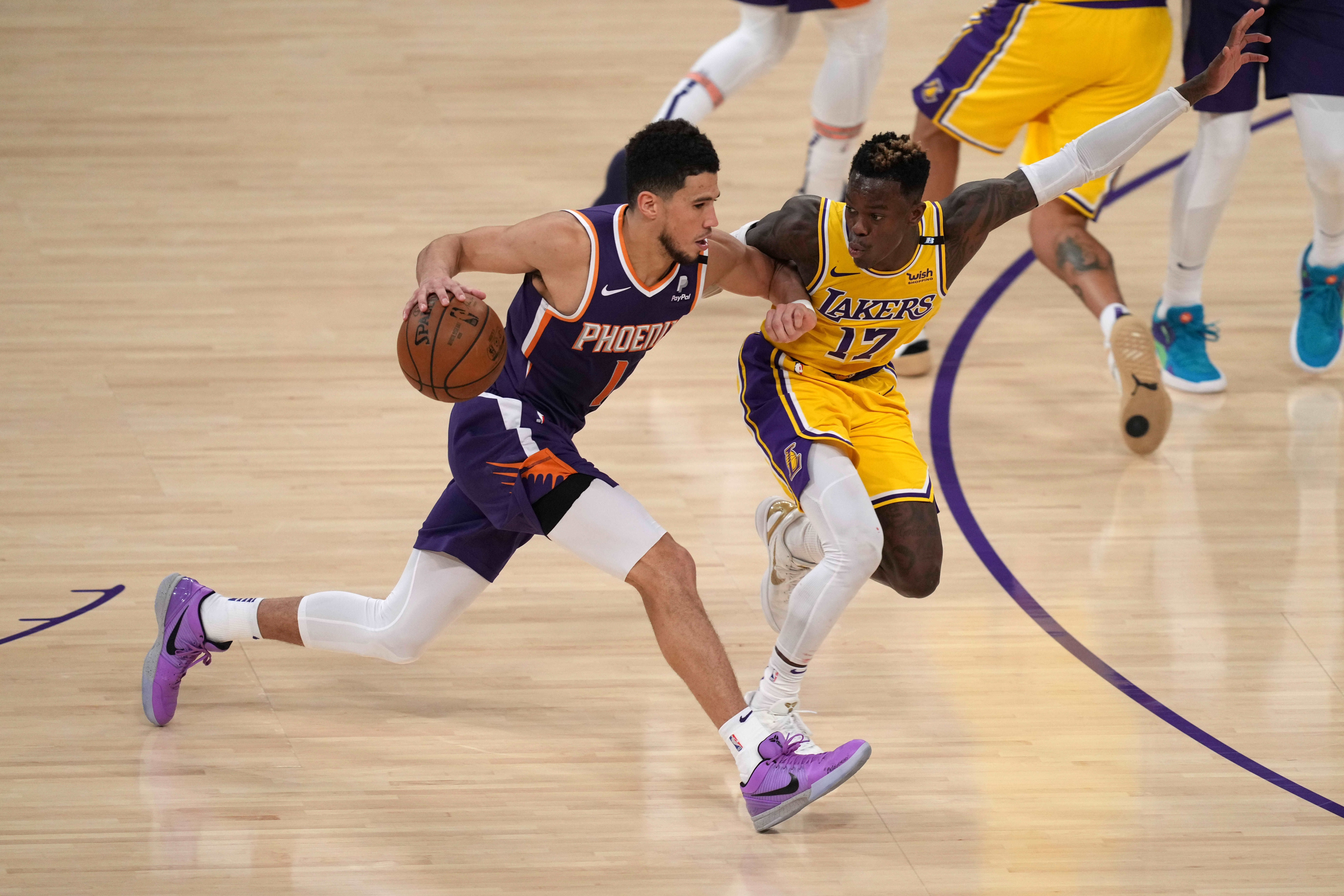 Lakers eliminated by upstart Suns in first round of NBA playoffs