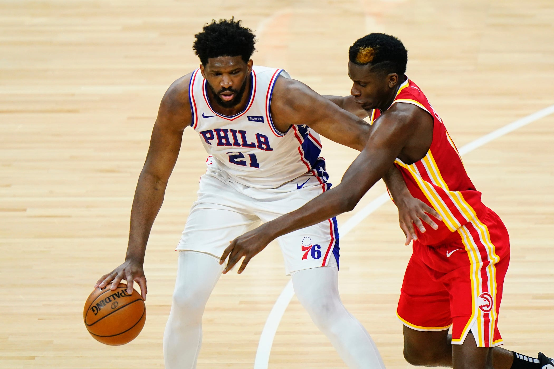 Joel Embiid is the big unknown in Philadelphia 76ers' playoff series with Atlanta Hawks