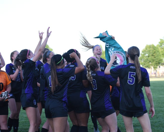 Nevada got to hoist up a girls' state soccer qualifier banner for the ninth year in a row following its 1A regional final victory over Denver Friday at Nevada.