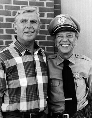 """Ohio fishermen would be wise to follow Barney Fife's, right, guidance for prisoners on the Andy Griffith Show. """"Rule No. 1: Obey all rules!"""""""