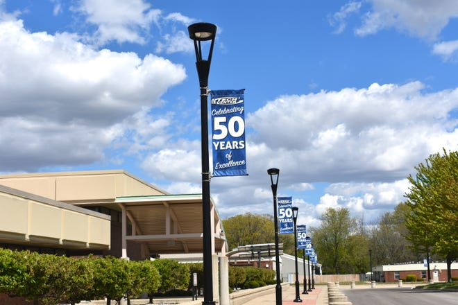 Banners highlighting the 50 years of instruction at the Lenawee Intermediate School District Tech Center can be seen throughout its campus. The Tech Center is celebrating 50-plus years of service in Lenawee County this year.