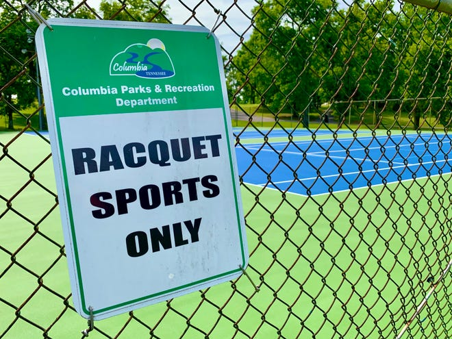"""Columbia City Council will vote on a $34,900 change order to conduct repairs on the three lower tennis courts at Woodland Park after conditions at the courts were found to be """"substandard"""" and requiring extra maintenance."""