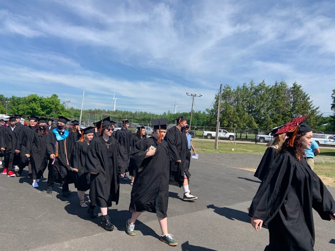 Students from Gardner High School and the Gardner Academy for Learning and Technology received their diplomas during a graduation ceremony at Watkins Field on June 5.