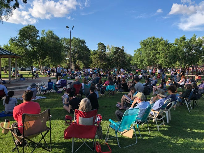 Beto O'Rourke spoke about voting rights and democracy at Lubbock's Wagner Park on Friday.
