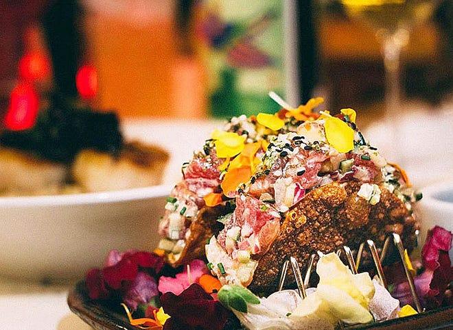 Ahi tuna tacos are a signature appetizer at Cucina.