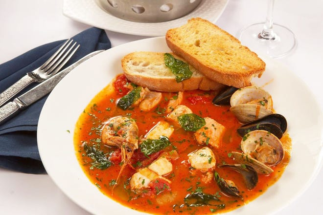 Before 6:30 p.m., PB Catch features BOGO entrees, including cioppino.