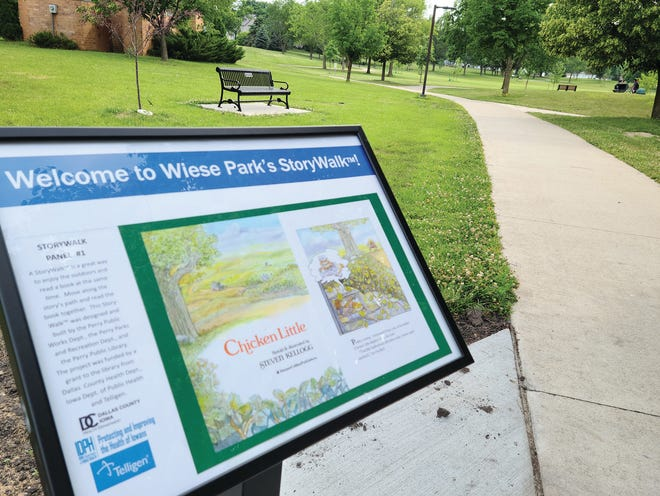 "The Perry Public Library Storywalk at Wiese Park will feature ""A Wild Day at the Zoo/Un dÍa salvaje en el zoológico"" by Victor Dias de Oliveira Santos this June."