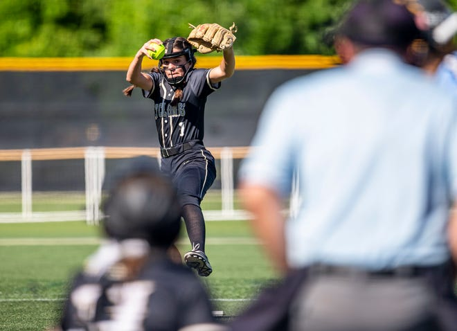Sacred Heart-Griffin High School's Rosie Bartletti is The State Journal-Register's Large School Softball Player of the Year. [JUSTIN L. FOWLER/THE STATE JOURNAL-REGISTER]