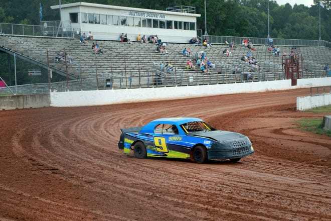 Michael Screen turns hot laps in the Mini Stock Division on Friday night at Oglethorpe Speedway Park in Pooler.