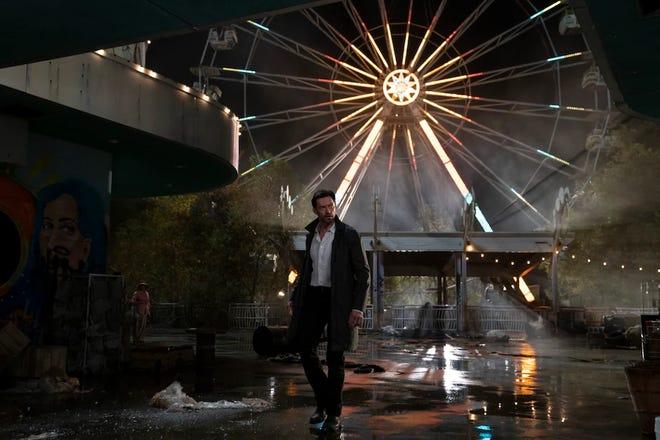 "Hugh Jackman stars in Warner Brothers' upcoming film ""Reminiscence."""
