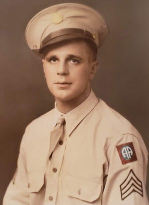 Wartime photo of Howard Schuppert, who lived in West Allis, landed in France on D-Day in a troop transport glider and was recently honored with posthumous medals for his service during World War II.