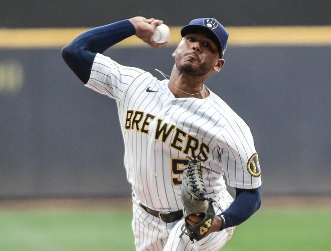 On his 25th birthday, Brewers pitcher Freddy Peralta came within five outs of a no-hitter Friday.