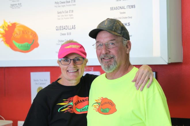 Habanero Grill co-owners Lisa Higgins and Nick Higgins, seen here on Friday, June 4, 2021, are glad to be back open in Farmington after being closed for 14 months due to the COVID-19 pandemic.