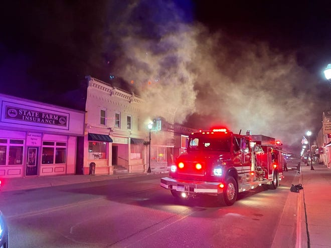 Two buildings in downtown Croswell were a complete loss after a fire early Saturday morning, June 5, 2021.