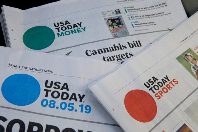 Sections of USA Today newspapers.