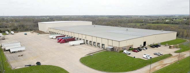 Spirit of '76 Fireworks distribution center and warehouse in Boonville held a ribbon cutting on Tuesday, June 8 to commemorate its recent 43,500 square foot expansion, for a total warehouse facility of 193,500 square feet.