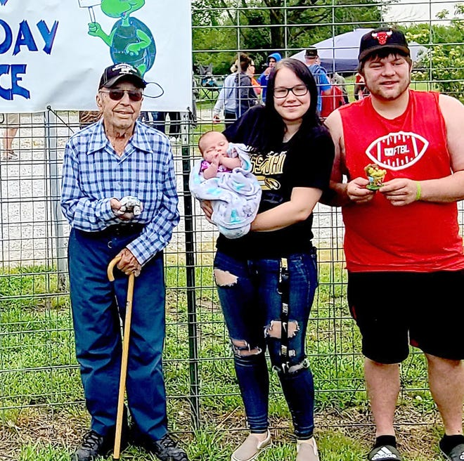 45th annual Lone Elm Turtle Races. The oldest entrant was Bud Mercy at the age of 95 and the youngest entrant was Irys Minor at 2 months old.