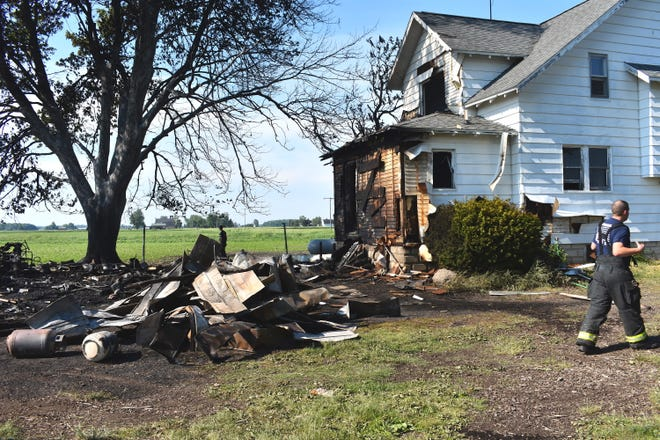 A residence on Blissfield Highway north of McMahon Road suffered fire and smoke damage to the rear of the house and to a portion of the second story Saturday afternoon when a garage fire spread to the house. The garage was completely lost in the fire. Multiple fire department crews were able to save the home.
