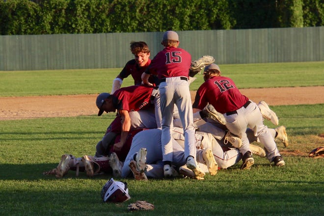 Langdon/Edmore/Munich defeated LaMoure-Litchville/Marion, 9-1, to win the 2021 Class B baseball state championship on June 5 at Jack Brown Stadium in Jamestown.